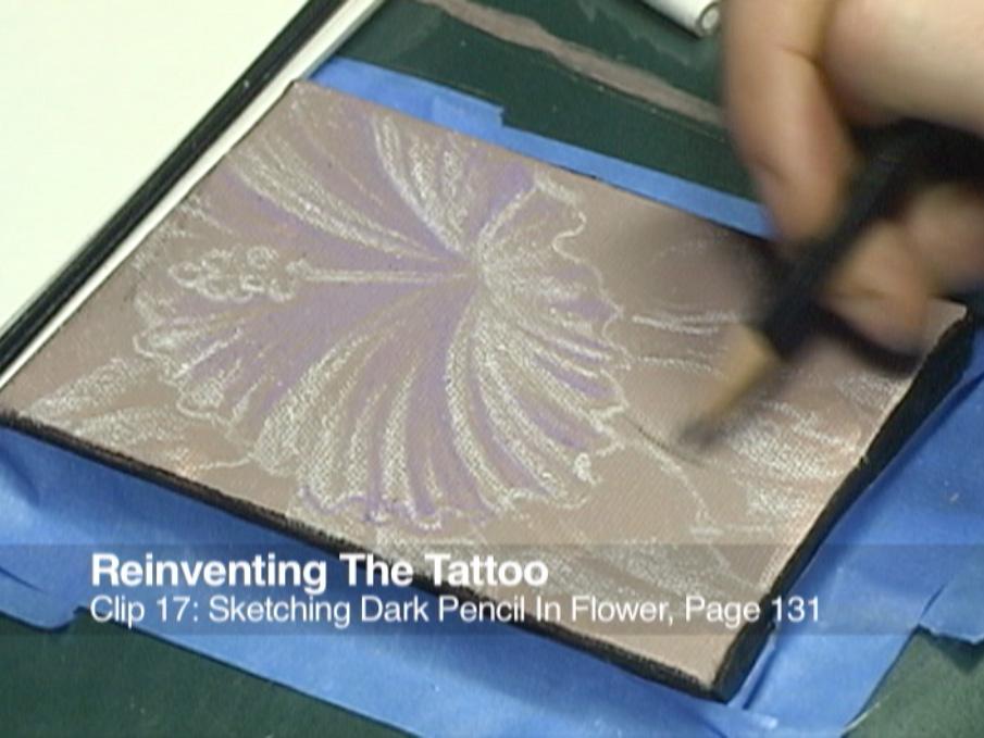 Clip 17 Sketching Dark Pencil In Flower