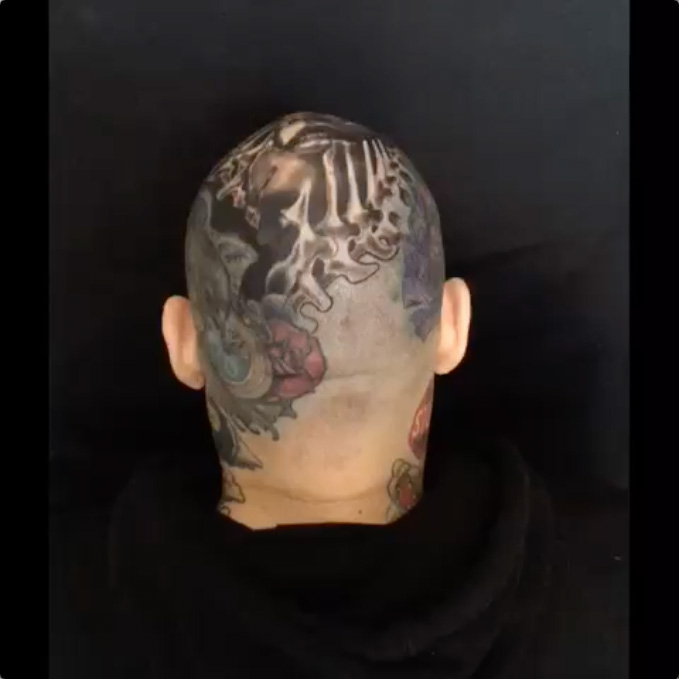 Crown of Thorns Head Tattoo by Megan Jean Morris