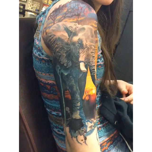 Elephant Tattoo by Megan Jean Morris
