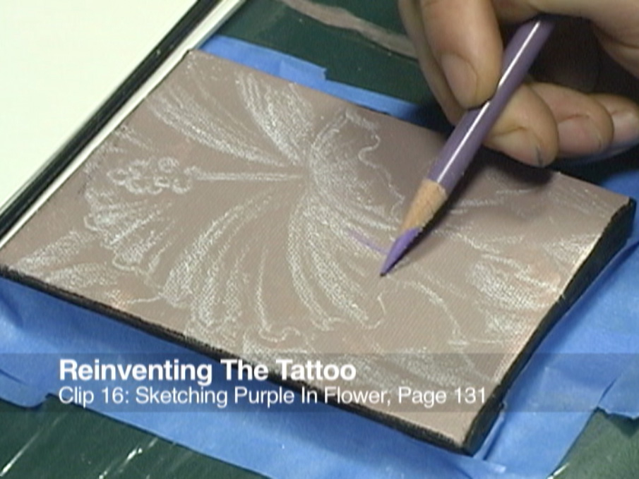 Clip 16 Sketching Purple In Flower